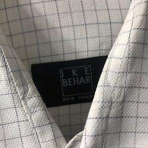 Grey Checked Ike Behar Dreas Shirt